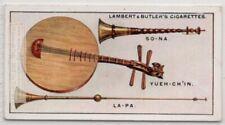 Chinese Suona Moon Guitar La-Pa  Music Instrument 1920s Ad Trade Card