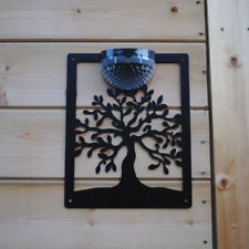 Garden Solar Powered LED Light Novelty Tree of Life Design for Outdoor Wall/Shed