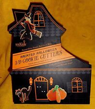 WILLIAMS SONOMA KIDS HAUNTED HALLOWEEN 3-D COOKIE CUTTERS MIB WITCH/PUMPKIN/CAT+