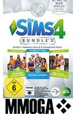 Die Sims 4 Bundle 3 Gaumenfreuden Heimkino Romantische Garten Pack EA Origin PC