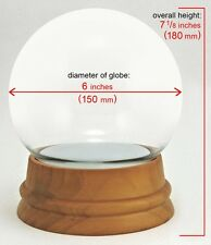Jumbo Build your Own Glass Snow Globe Kit with Solid Wood Base / DIY Snowglobe
