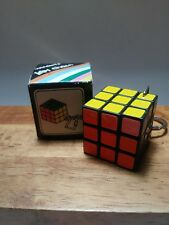 Vintage Rubik's Cube Keychain Key Ring With Box Made In Taiwan small