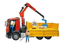 Bruder Camion MB Arocs Rib.con Gru Pall - Jeux-jouets
