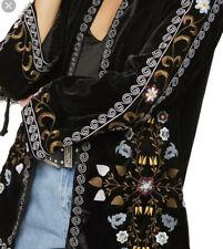 Topshop Black kimono Jacket Embroidered Uk 8 Brand New