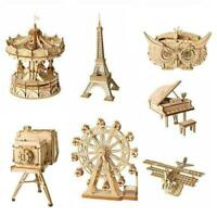 DIY Model Kits 3D Wooden Puzzle Assembled Crafts Toy Children For Kids S7X6