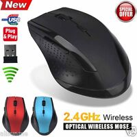 2.4GHz 6D USB Wireless Optical Gaming Mouse 2000DPI Mice For Laptop Desktop PC.
