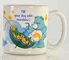 Vintage CARE BEAR mug 1985 SECRET & WISH umbrella Fill Your Day with Starshine