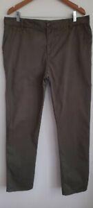 Witchery Men's Tapered Chinos Pants Dark Green Size 36 Cotton & Elastane