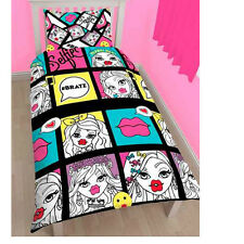 """OFFICIAL BRATZ HASHTAG """"REVERSIBLE"""" SINGLE DUVET COVER WITH MATCHING PILLOW CASE"""