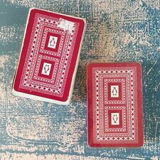 Vintage Playing Cards Penguin Red Ornate Borders Sealed Deck