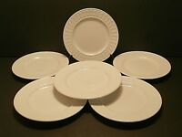 Totally Today Dots & Triangles TT012 Bread & Butter Plates White--Lot of 6!!