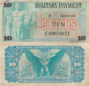 Military Payment Certificate Series 692 10 Cent Replacement Vietnam Era Fine