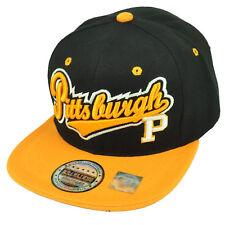 Pittsburgh Steel City Town Black Yellow Skyline Under Visor Snapback Hat Cap