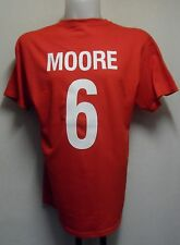 ENGLAND MOORE NO.6 RETRO 1966  FOOTBALL TEE SHIRT ADULTS SIZE XXL BRAND NEW