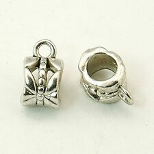 10 x Tibétain Argent Caution Bead coupe cintre 11 mm x 6 mm