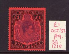 BERMUDA GEORGE VI SG121e 52 ptg. Superb lightly hinged Scarce! Cat.£180