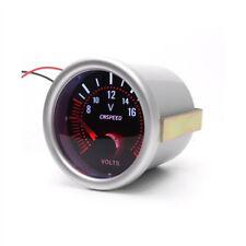 2'' 52mm LED Voltmeter Gauge Meter Bar Smoke Tint Lens Red Illuminated Needle