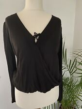 Hollister Long Sleeved Casual Crossover Top Blouse, Small