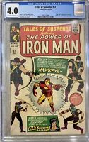 TALES OF SUSPENSE 57 CGC 4.0 1ST APPEARANCE OF HAWKEYE 1964 IRON MAN AVENGERS