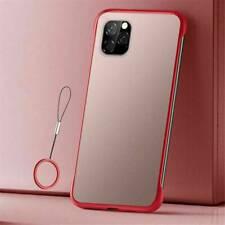For iPhone 12 Pro Max 11 Pro Slim Frameless Hard Case Transparent Matte Cover