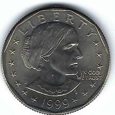 1999-D Denver Susan B Anthony Brilliant Uncirculated Dollar Coin!