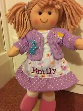 Personalised 28 cms Rag Doll Set With 2 Outfits (2 Dresses) Girls Gift Ragdoll