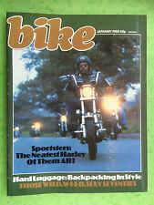 BIKE - January 1980 - Harley Davidson - Suzuki GS1000S - Motorcycle Magazine