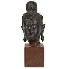 La thaïlande 17./18. JH. bronzekopf-a thai bronze Head of Bouddha-tête de Bouddha