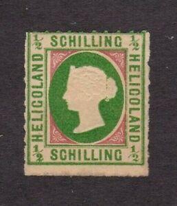 Heligoland stamp #1a, MH OG, A2, type 2,  SCV $725.00