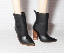 SHOES ~ BARBIE DOLL MODEL MUSE HUDSON BAY BLACK BROWN SLOUCH ANKLE BOOTS