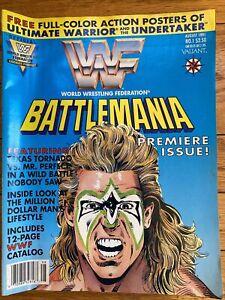 WWF Battlemania #1 (1991) Valiant Comic Magazine Ultimate Warrior Wrestling