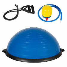 New Yoga Ball Balance Trainer Strength Exercise Yoga Fitnes Workout w/Pump Blue