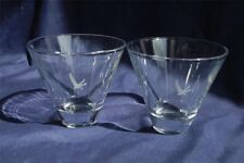 Grey Goose Stemless Martini Glasses Set of Two New Unused