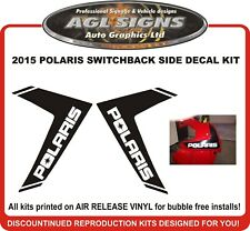 2015 POLARIS 800 SWITCHBACK  Side Panel Reproduction Decal Kit  Pro-s Rush xcr