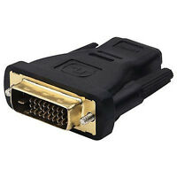 Adapter DVI HDMI 24+1 Stecker auf Buchse HDMI HighSpeed with Ethernet  Neu.