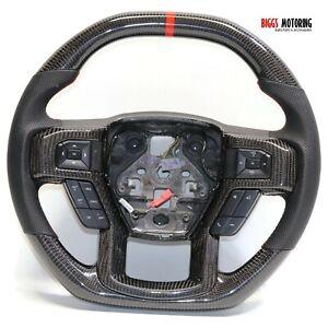 Fits 2013-2018 Ford F150 Carbon Fiber Custom Flat Bottom Steering Wheel