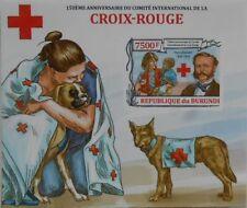 Red Cross Henry Dunant Rescue Dogs dog Burundi s/s Sc. 1361 #BUR13201b IMPERF