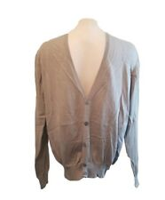 Authentic Burberry Cardigan Sweater Tan Small Tan Knit Jumper Made in Italy