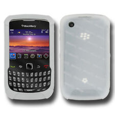 AMZER TRANSPARENT WHITE SILICONE SKIN JELLY CASE FOR BLACKBERRY CURVE 3G 9300