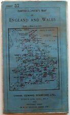 Bartholomew's Half inch map of ENGLAND & WALES. CORNWALL 1934 Sheet 37