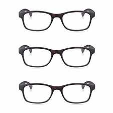3 Pack Reading Glasses Brown Tortoiseshell Readers Lens Power +1.0 to +3.5
