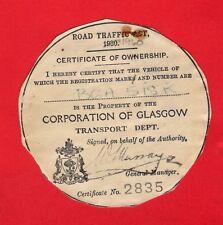 Bus Ownership Disc ~ Glasgow Corporation BGA518K: 1971 Alexander Atlantean LA560
