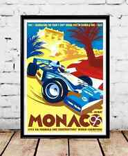1995 Monaco Vintage Travel Poster by Gary Redford- Multiple Sizes
