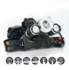 ecolle Stirnlampe T6 LED Kopflampe mit Zoom Wasserdicht 10 Stunden Dauer