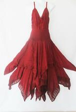 MEDIEVAL RENAISSANCE EMBROIDERED RUSTY RED CORSET DRESS 12 14 16  96-110CMS