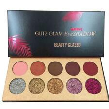 10 Colors Diamond Glitter Eyeshadow Sequins MakeUp Cosmetic Pressed Palette New