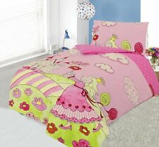 FLANNELETTE COT DUVET COVER SET 100 x 120 CM - DANCING PRINCESS