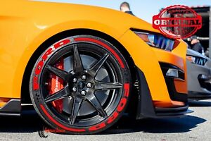"""Permanent Tire Lettering RAISED Stickers FORD RED STRIPES 16""""-22""""FOR4Tires 1.25"""""""