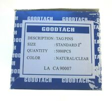 "Goodtach Tag Pins Standard 2"" 5000 Pieces Natural/Clear"