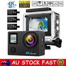 4K Full HD 1080P Waterproof Sports Camera WiFi Action Camcorder w/ 3pc Batteries